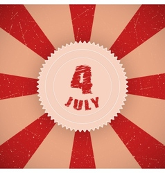 Fourth of july badge vector