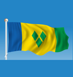 Flag of saint vincent and grenadines vector