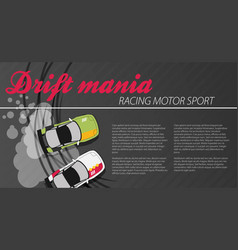 Top view of a drifting car vector