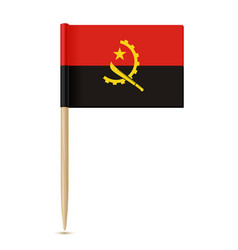 Flag of angola flag toothpick 10eps vector
