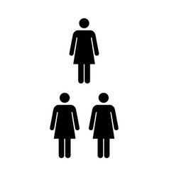People icon group of women team pictogram symbol vector