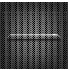 Glass Shelf On Abstract Metal Background vector image