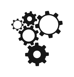 Gears isolated on white background vector