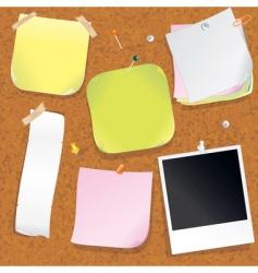 cork message board vector image