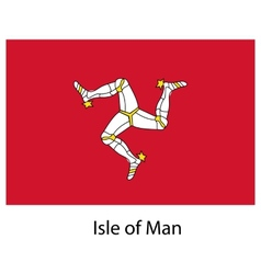 Flag the country isle of man vector