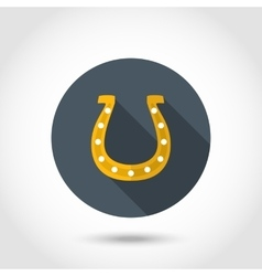 Happy horseshoe icon vector