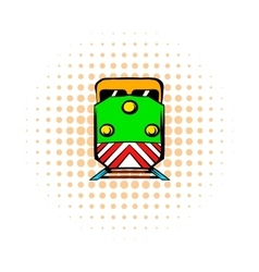 Locomotive comics icon vector