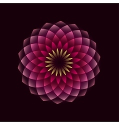 Pink flower geometrical sign vector