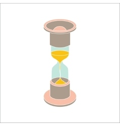 Color hourglass icon on white background vector