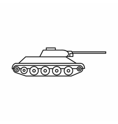 Tank icon in outline style vector