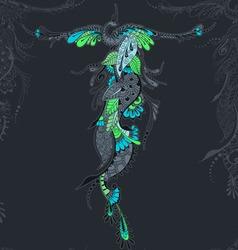 Bird Phoenix seamless pattern vector image vector image