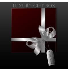 Black gift box vector image vector image
