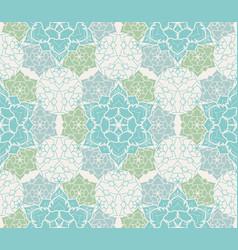 boho flower pattern vector image vector image