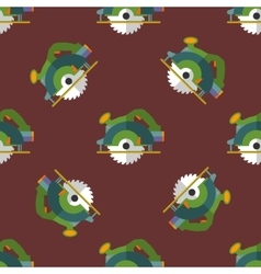 Circular saw seamless pattern vector
