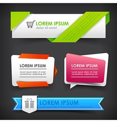 Collection of colorful web tag banner promotion vector