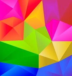 Colorful polygons triangle shapes Background vector image vector image