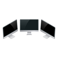 computer monitor screen mockup with a perspective vector image vector image