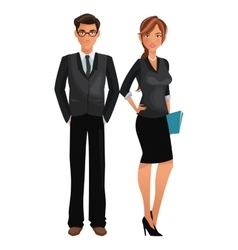 Couple worker office business standing vector