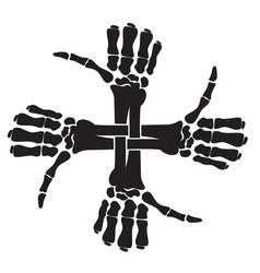 crossbones x9 vector image
