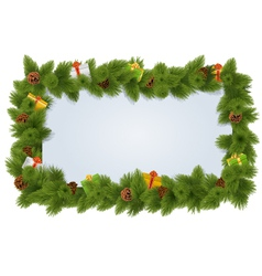 Fir frame with fir cone vector
