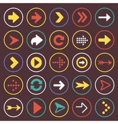 Flat arrow icons sign symbol set vector image