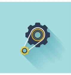Flat repair icon settings symbol vector