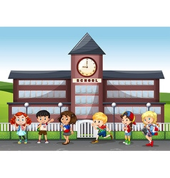International children at school vector image