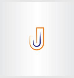 J logotype symbol vector
