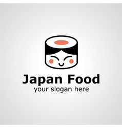 japan food logo vector image