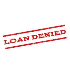 Loan denied watermark stamp vector