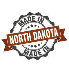 made in north dakota round seal vector image vector image