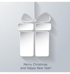 Modern Xmas greeting card vector image vector image
