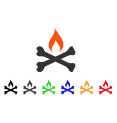 Mortal ignition icon vector