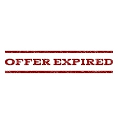 Offer Expired Watermark Stamp vector image