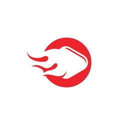 Play icon logo template vector