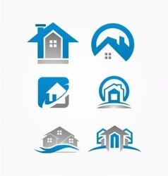 real estate logohome bundle logo vector image