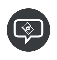 Round 3d movie dialog icon vector