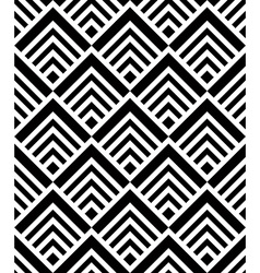 Seamless geometric pattern simple black and white vector image vector image