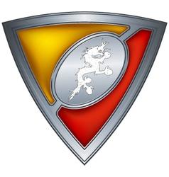 steel shield with flag bhutan vector image
