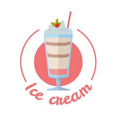 Sweet frozen ice cream vector