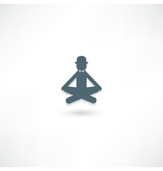 The gentleman in the lotus position vector image vector image