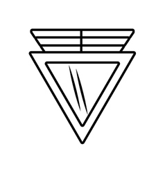 Triangle shield secure outline empty vector