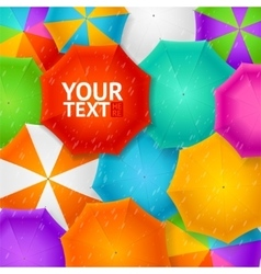 Umbrellas Autumn Background vector image