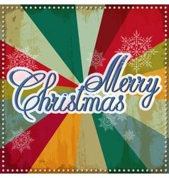 Vintage Christmas card EPS 10 vector image