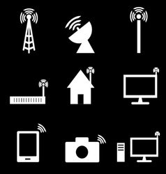 Wireless technology icon vector image
