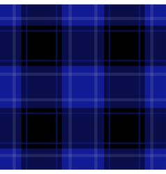 Seamless blue black tartan with white stripes vector