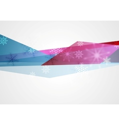 Concept tech winter Christmas background vector image