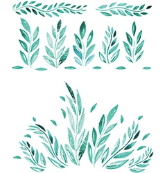 Hand drawn watercolor leaf vector