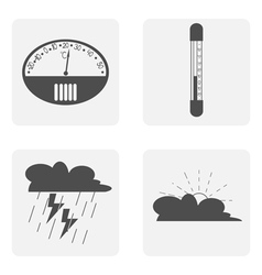 Icon set with thermometer weather vector