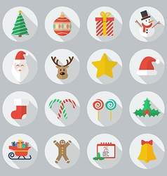 Christmas flat icon set vector